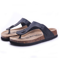 Fashion Women Slippers Flip Flops Summer Beach Cork Shoes Slides Girls Flats Sandals Casual Shoes Mixed Colors Plus Size 35-40