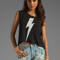 Wildfox Couture White Lightning Charlie Tank in Clean Black from REVOLVEclothing.com