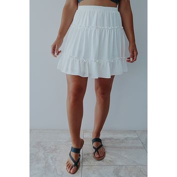 Living For It Skirt: White