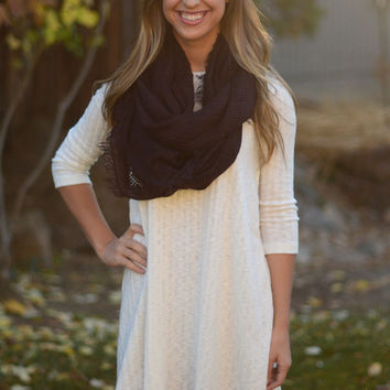 By the Fireside Sweater Dress - Ivory
