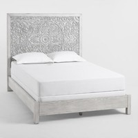 Gray Mahogany Wood Verena Bed
