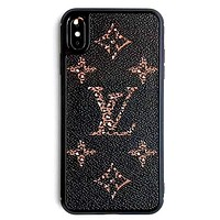 LV new tide brand iPhonex mobile phone case cover Black