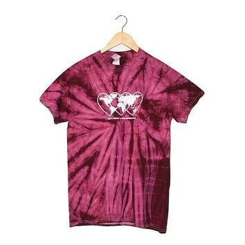 Love Revolution Plum Tie-Dye Graphic Unisex Tee