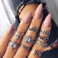 Ring Vintage Hollow Out Gemstone Style Set [11856498639]