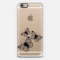 Black Butterflies in Flight iPhone 6 case by Organic Saturation | Casetify