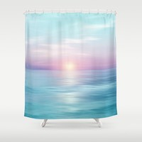 Calm sunset Shower Curtain by vivianagonzalez