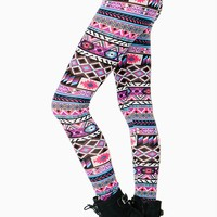 Pretty Bright Aztec Legging