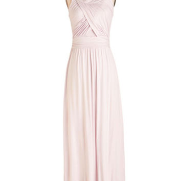 ModCloth Pastel Long Sleeveless Maxi Aloft in Thought Dress