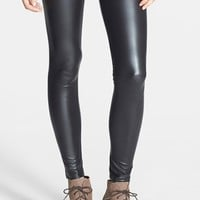 Junior Women's Mimi Chica Faux Leather Leggings