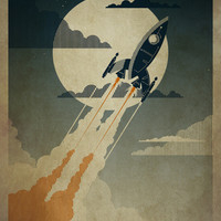 Night Launch Art Print by Danny Haas