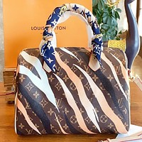 Hipgirls Louis vuitton LV New fashion monogram print shoulder bag crossbody bag women handbag
