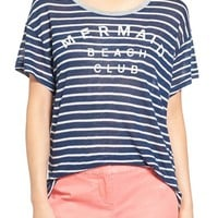 Sundry 'Mermaid Club' Stripe Tee | Nordstrom