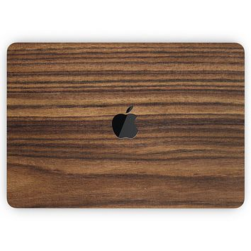 """Bright Ebony Woodgrain - Skin Decal Wrap Kit Compatible with the Apple MacBook Pro, Pro with Touch Bar or Air (11"""", 12"""", 13"""", 15"""" & 16"""" - All Versions Available)"""