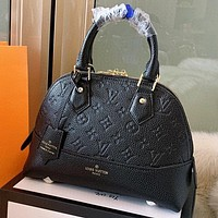 LV Louis Vuitton New fashion monogram leather shell shape shoulder bag women crossbody bag handbag Black