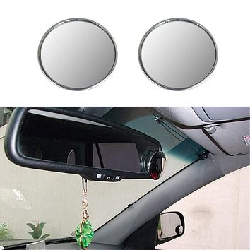 Aumo-mate 1 Pair New Driver Side Wide Angle 3-inch Round Convex Car Vehicle Blind Spot Mirror Rear-View Under Mirror for All Cars, SUV, Trucks, and Motorcycle