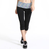 SIMPLE - Summer Women Casual Sport Suit Fitness Sportswear Stretch Exercise Yoga Leggings Pants b3975