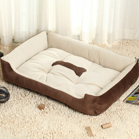 Big Size Large Dog Bed Kennel Mat Soft Fleece Pet Dog Puppy Warm Bed House Plush Cozy Nest dog house Pad sleeping bag for dogs