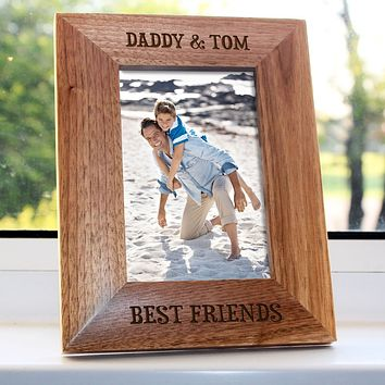Custom Photo Frames Daddy My Best Friend Engraved Photo Frame