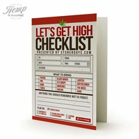 STONER CHECKLIST HEMP GREETING CARD