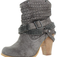 Not Rated By Naughty Monkey Womens Shiloh Western Boots