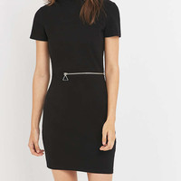 Cheap Monday Ace Black Zip Mini Dress - Urban Outfitters
