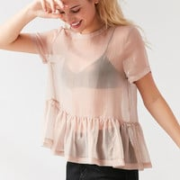 Kimchi Blue Lylee Peplum Layer Top | Urban Outfitters