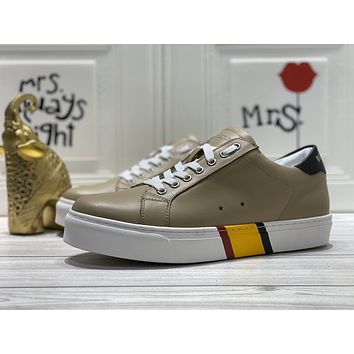 Burberry  Men Fashion Boots fashionable Casual leather Breathable Sneakers Running Shoes06140em