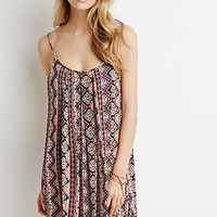 Abstract Stripe Cami Dress