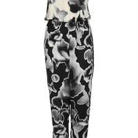 Petite Mono Floral Jumpsuit - New In This Week - New In - Topshop USA