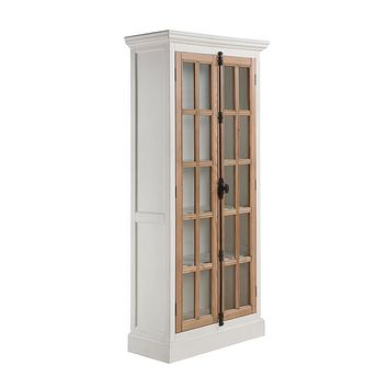 G950965 - 2-Door Tall Cabinet - Antique White And Brown