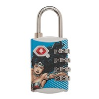 Womens DC Comics Wonder Woman Graphic Design TSA Approved Combination Lock