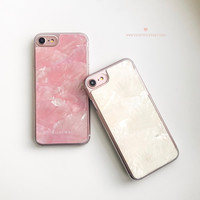Seashell - Clear Hard Case