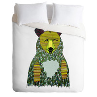Big Hipster Bear Duvet Cover - Bear Duvet - Hipster Duvet - Bear Blanket - Bear Bedding - Kid's Bear Blanket Twin, King Queen Size Duvet