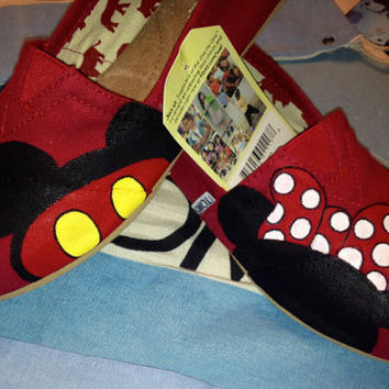 Mickey & Minnie Mouse Disney Custom TOMS Shoes