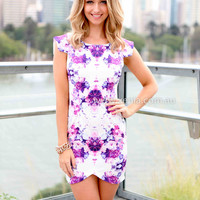 BOMBSHELL DRESS , DRESSES, TOPS, BOTTOMS, JACKETS & JUMPERS, ACCESSORIES, SALE NOTHING OVER $25, PRE ORDER, NEW ARRIVALS, PLAYSUIT, GIFT VOUCHER,,Pink,Print,Purple Australia, Queensland, Brisbane