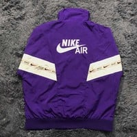 NIKE 2018 autumn and winter models men and women loose trend string stitching jacket purple