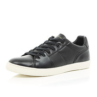 River Island MensBlack lace up sneakers