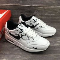 Tagre™ Louis Vuitton x Nike Air Max 1 Custom Running Sneakers Sport Shoes