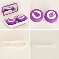 Cosmetic Eye Contact Lens Case Set With Mirror Plastic Lenses Box Contact Lens Container Solution Funda Gafas Glass Accessories