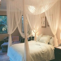 High Quality Hot 1pc Elegant Lace Insect Bed Canopy Netting Curtain Dome Mosquito Net Worldwide 4 Doors Open for Bedding