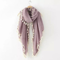 Tassel Wrapped Scarf