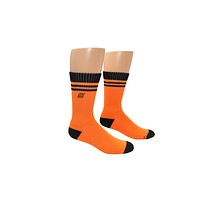Naruto Leaf Embroidered Logo Athletic Crew Socks