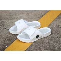 Air Jordan Hydro 13 Retro Triple White Sandals Slides Slippers