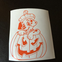 Dalmatian in a Pumpkin Decal Any Color Any Size Halloween