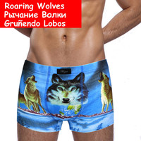 Men's Underwear Print Cotton Boxer Shorts