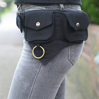 The Hipster, Cotton Utility Belt, Festival Belt, Pocket Belt, Bum Bag, Hip Bag,Festival Fanny Pack