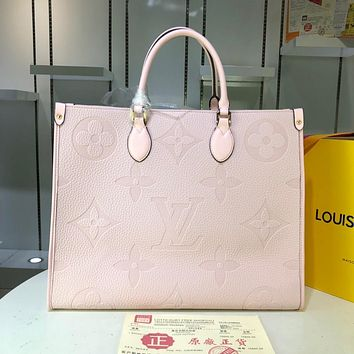 LV Louis Vuitton WOMEN'S MONOGRAM LEATHER Onthego HANDBAG TOTE BAG