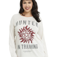 Superntural Hunter In Training Girls Top Plus Size