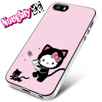 Hello Kitty And A Cat iPhone 4s iphone 5 iphone 5s iphone 6 case, Samsung s3 samsung s4 samsung s5 note 3 note 4 case, iPod 4 5 Case