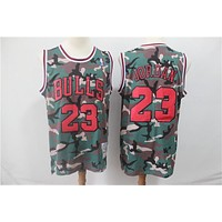 Michael Jordan Chicago Bulls Lakers Mitchell & Ness Camouflage Fashion Hardwood Classics Swingman Jersey